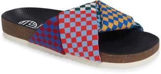 Tory Sport Check Knit Slide Sandal