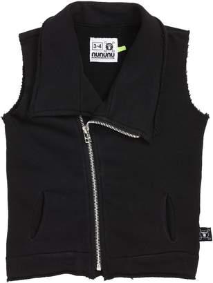 Nununu Solid Asymmetrical Zip Vest