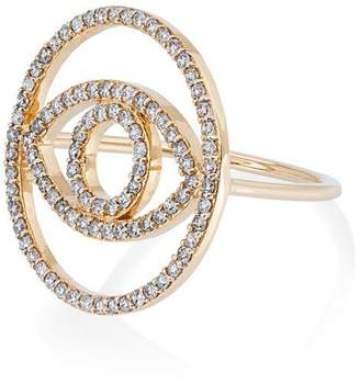 Ileana Makri diamond circle evil eye ring