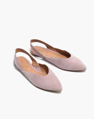 Madewell The Ava Slingback Flat in Suede