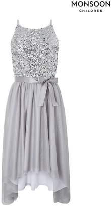 Monsoon Girls Children Silver Truth Spot Dress - Silver