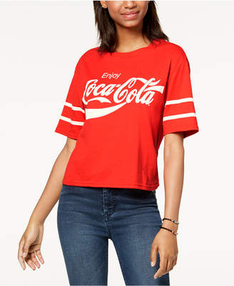 Mighty Fine Mad Engine Juniors' Coca Cola Graphic T-Shirt