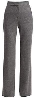 St. John Women's Stretch-Wool Melange Flannel Pants