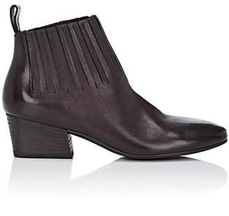 Marsèll Women's Gore-Detailed Leather Ankle Boots - Dk. brown