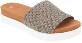 Bernie Mev. Woven Slide Sandals - Capri