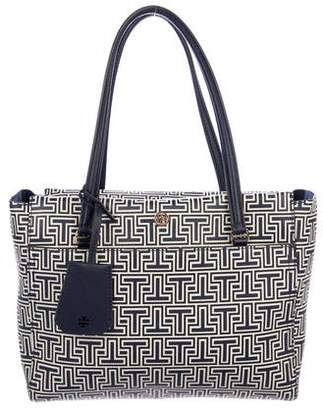 Tory Burch Coated Canvas Monogrammed Tote