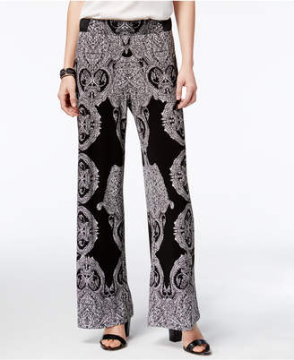INC International Concepts Printed Soft Pants, Only at Macy's $69.50 thestylecure.com