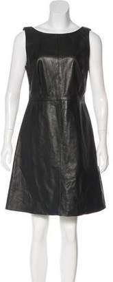 Ali Ro Leather A-Line Dress