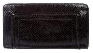 Kara Ross Snakeskin Clutch