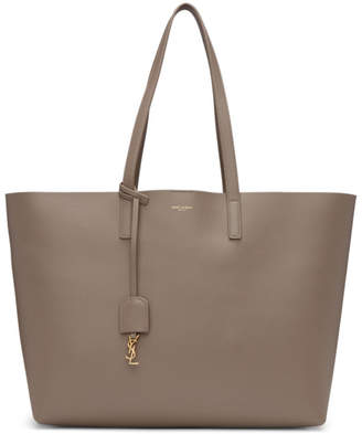 Saint Laurent Taupe East/West Shopping Tote
