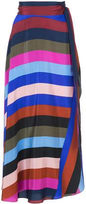 Diane von Furstenberg Carson stripe A-line skirt
