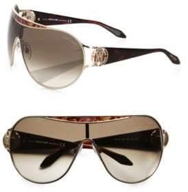 Roberto Cavalli Marotiri Oversized Shield Sunglasses/Brown