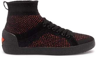 Ash 67947 'Ninja' mixed knit sock sneakers