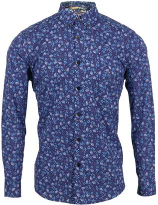 Lords of Harlech - Morris Shirt In Spikey Navy