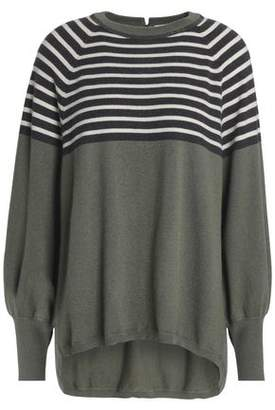 Brunello Cucinelli Bead-Embellished Striped Cashmere Sweater