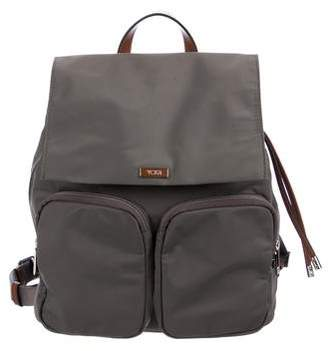 Tumi Leather-Trimmed Nylon Backpack