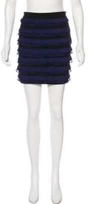 Elizabeth and James Ruffled Mini Dress Navy Ruffled Mini Dress