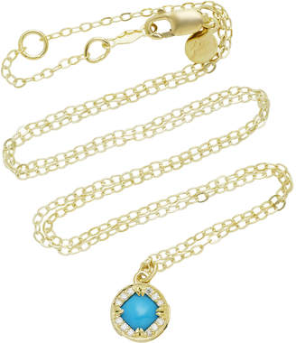 Ila Adalina 14K Gold Turquoise And Diamond Necklace