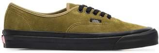 Vans green 44 DX suede leather low-top sneakers