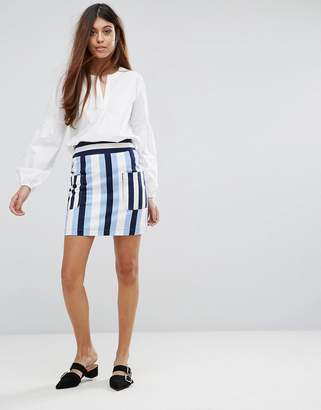 Warehouse Stripe Pelmet Skirt