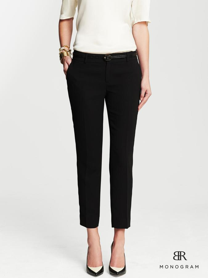 Banana Republic BR Monogram Slim Ankle Pant