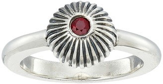 King Baby Studio - Ribbed Sphere Ring w/ Ruby Ring $209 thestylecure.com