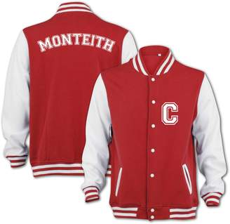 Hudson BANG TIDY CLOTHING Cory Monteith Finn Unisex-Adult Varsity Jacket