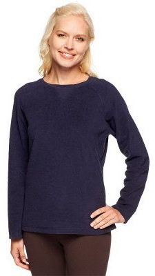 Denim & Co. Baby Sherpa Crew Neck Sweatshirt