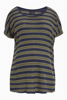 Next Womens Orange Maternity Metallic Stripe T-Shirt