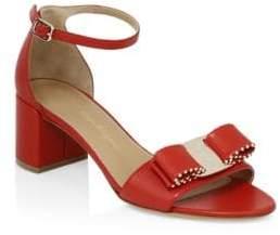 Salvatore Ferragamo Gavina Studded Ankle-Strap Sandals