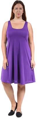 24/7 Comfort Apparel Women's Plus Size Tank Knee-Length Dress CF660P-L