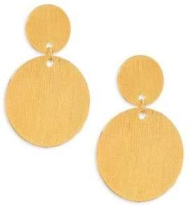 Nest Brushed Disc Earrings