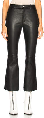 Helmut Lang Leather Flare Pant