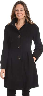 Fleet Street Women's Pleated Wool Blend Jacket
