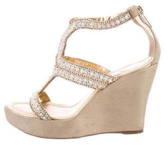 Rene Caovilla Embellished Wedge Sandals