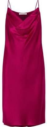 Halston Draped Satin Slip Dress