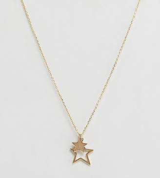 Orelia gold plated star pendant necklace in gift box