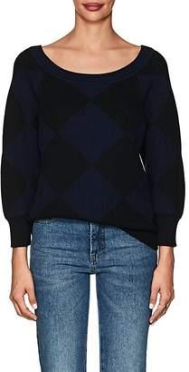 Nina Ricci Women's Diamond-Pattern Cotton-Wool Sweater