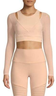 Alo Yoga Mesh Crop Top
