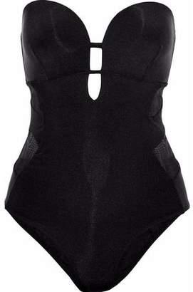 Jets Australia By Jessika Allen Mesh-Paneled Cutout Bandeau Swimsuit