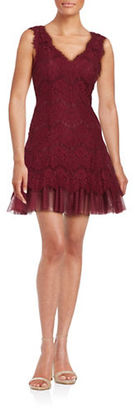 Betsy & Adam Lace Fit-and-Flare Dress $229 thestylecure.com