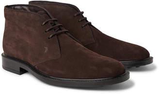 Tod's Suede Desert Boots - Men - Brown