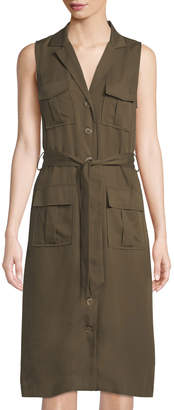 Tahari ASL Tabatha Sleeveless Utility Dress
