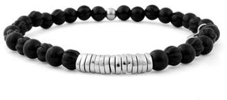 Tateossian Men's Onyx Beaded Bracelet