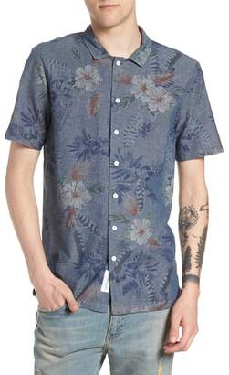 NATIVE YOUTH Floral Sketch Short Sleeve Sport Shirt