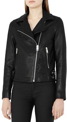 REISS Caden Leather Biker Jacket $745 thestylecure.com
