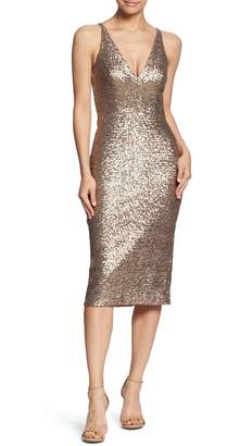 Dress the Population Camilla Plunging Sequin Sheath Dress