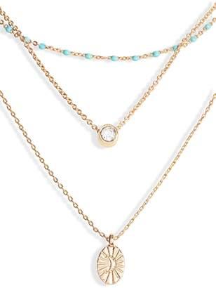 Treasure & Bond Multistrand Pendant Necklace