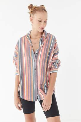 Urban Outfitters Striped Twill Button-Down Shirt