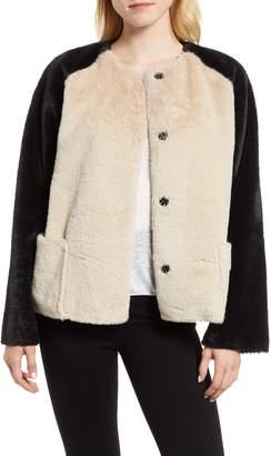 Velvet by Graham & Spencer Colorblock Faux Fur Jacket
